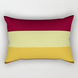 Ornamental Reds and Yellows Rectangular Pillow