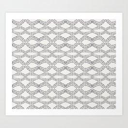 Cleo - boho diamond Art Print