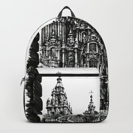 CITIES OF EUROPE - SANTIAGO DE COMPOSTELA - HANDMADE DRAWING Backpack