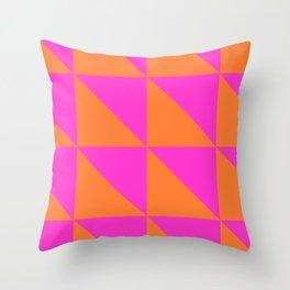 Summer Semaphore Throw Pillow