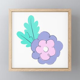 Creative floral print. Sping mood. Summer vibes. Happy lifestyle Framed Mini Art Print