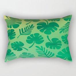 Tropical Palm Leaves Rectangular Pillow