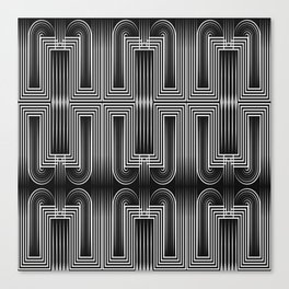 Art Deco 32 . Graffiti black and white Canvas Print
