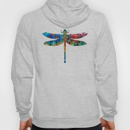 Colorful Dragonfly Art By Sharon Cummings Hoody