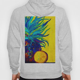 Blue Pineapple Abstract Hoody
