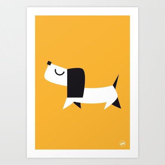 Yelow Dog Art Print