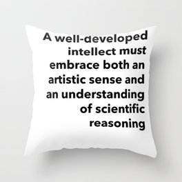 the truth requires balance Throw Pillow