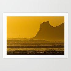 Golden Oregon Art Print