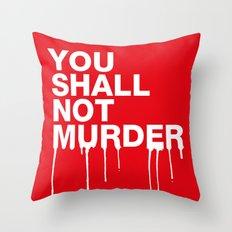 The Sixth Commandment Throw Pillow