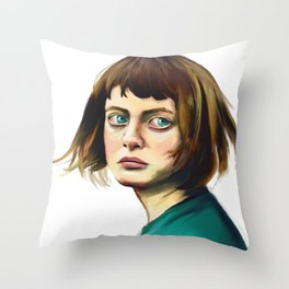 The Missing Girl Throw Pillow