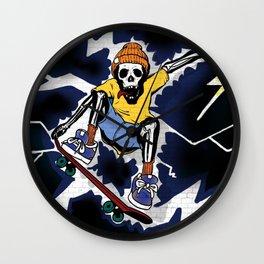 Wicked Electrocuted Skeleton Boy Wall Clock