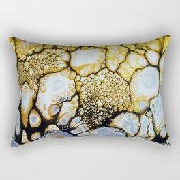 Black and White and Gold Allover Rectangular Pillow