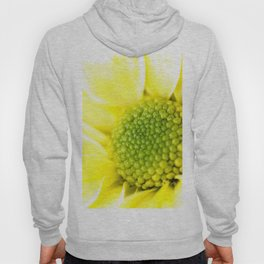 Yellow Daisy Macro Nature Photography Hoody
