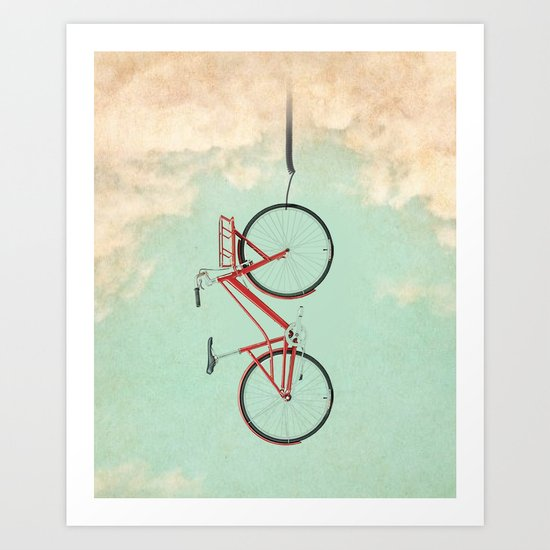 Bike Rack Art Print