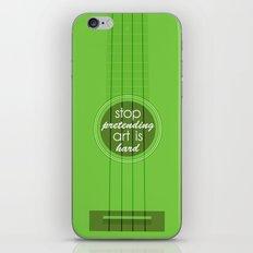 Stop pretending art is hard (green) iPhone & iPod Skin