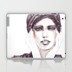 Fashion sketch in markers and pencil Laptop & iPad Skin