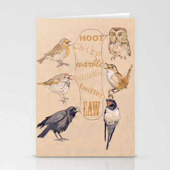 Bird Sounds Stationery Cards