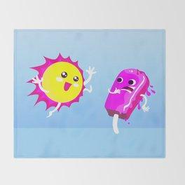 Sun Hug Ice Cream Scream Throw Blanket
