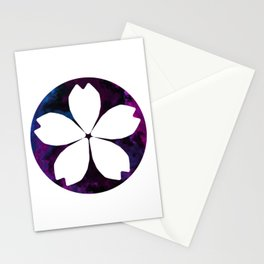 Inverted Purple Flower Stationery Cards
