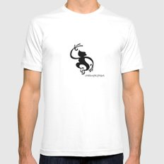 Monkey Mens Fitted Tee MEDIUM White