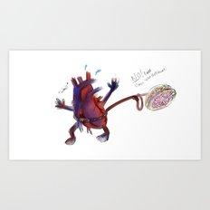 Heart vs Brain  Art Print