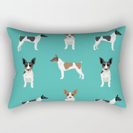 Rat Terrier dog breed pet art dog pattern gifts unique pure breed Rectangular Pillow