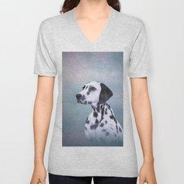 Drawing Dog Dalmatian Unisex V-Neck