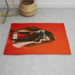 photographer in red Rug
