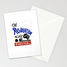 The Revolution Will Not Be Tweeted. Stationery Cards