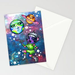 Space Patrol Stationery Cards