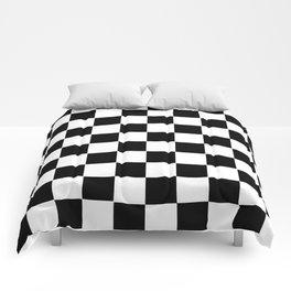 Checker Cross Squares Black & White Comforters