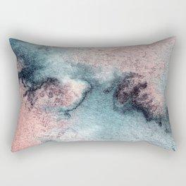 Pink and Blue Oasis Rectangular Pillow