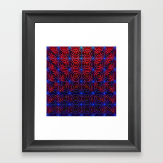 Complexities in Blue and Red Framed Art Print