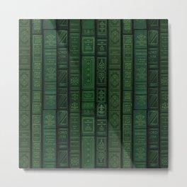 "Extravagant Design Series: Vertical Book Pattern ""Bookbag"" Metal Print"