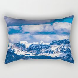 Embraced by the Mountains Rectangular Pillow