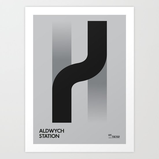 Off The Map | Aldwych Art Print
