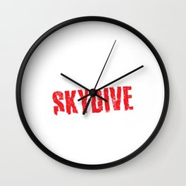 Eat Sleep Skydive Repeat Skydiving Extreme Sports Adventure Parachuting Gifts Wall Clock