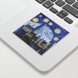 Starry Night At Hogwarts Sticker