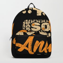 My Spirit Animal Is A Sock Monkey Design Backpack