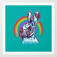 Zombie Rabbit Art Print