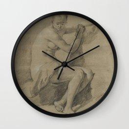 Sitting Female figure Wall Clock