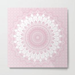 Boho Pink Mandala Metal Print