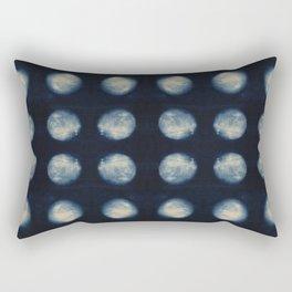 Shibori Moons Rectangular Pillow
