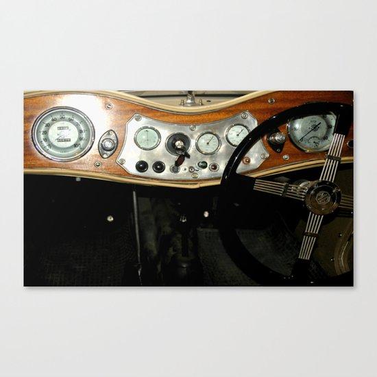 "1948 MG ""TC"" Sports Car Dashboard Canvas Print"