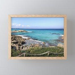 Vibrant Blue Waters of Formentera, Spain Framed Mini Art Print