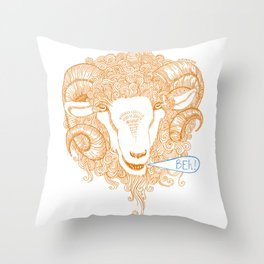 Beh! Throw Pillow