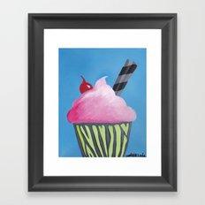 Pink Cupcake Framed Art Print