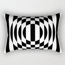 Hot Spot || Black & White Rectangular Pillow