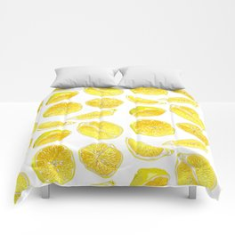 Fresh Lemon Fruit Slices Comforters