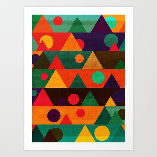 The moon phase Art Print
